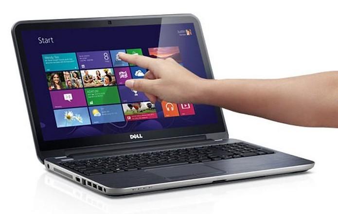 Notebook touchscreen